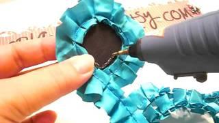 getlinkyoutube.com-Handmade Flower - Pleated Satin Trim Karlas001