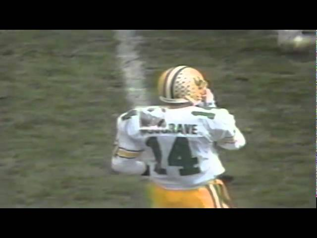 Oregon FB Latin Berry 21 yard gain on catch vs. BYU 11-04-1989