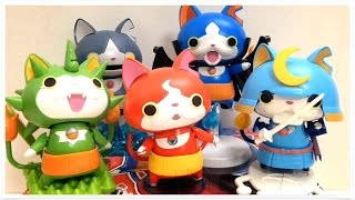 getlinkyoutube.com-YO-KAI WATCH Plastic Models Doll Toy Unboxing Review  jibanyan togenyan robonyan bushinyan