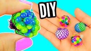 getlinkyoutube.com-DIY Mini Stress Balls! Orbeez & Mesh Slime Stress Ball Miniatures!