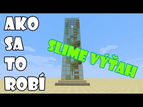 Minecraft | Ako sa to robí | Slime výťah