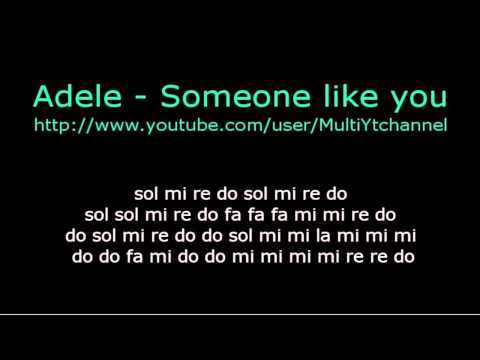 Someone like you - flauta dulce notas - Partitura - Adele - Recorder - Score
