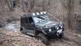 getlinkyoutube.com-4x4 offroad hard mudding deep mud full time 4wd 4х4 Гелик vs ручей оффроад