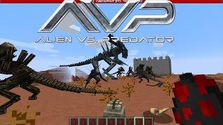 getlinkyoutube.com-Minecraft AVP Aliens vs Predator Mod Showcase - Epic Guns!