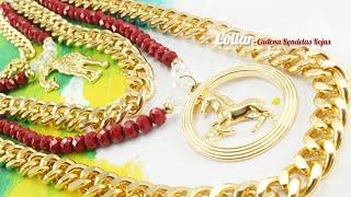 getlinkyoutube.com-Como Hacer Collares Con Cadenas de Aluminio?