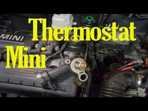 Расположение в Mini Paceman термостата