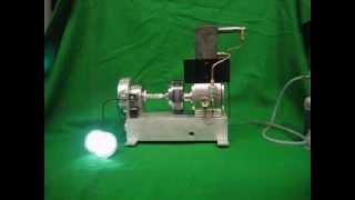getlinkyoutube.com-Rhombic Drive Stirling Engine,    10cc Pressurized,  Part 2