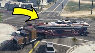 getlinkyoutube.com-FOUND MICHAEL'S STOLEN BOAT BACK IN GTA 5!