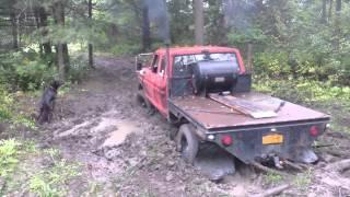 getlinkyoutube.com-453t Detroit Diesel powered 78 Ford F250 vs mudhole