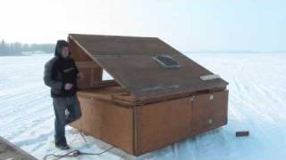 getlinkyoutube.com-Portable Ice Fishing Shelter