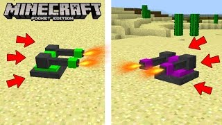 getlinkyoutube.com-TURRETS! The BEST Way to DEFEND your House in Minecraft Pocket Edition
