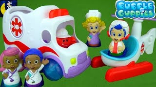 getlinkyoutube.com-RARE Bubble Guppies Clambulance Rescue Copter Check Up Center Ambulance Bus Doctor Goby & Dr Molly!