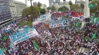 Imagenes Aereas de la Plaza de Mayo el 24 de marzo