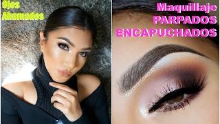 getlinkyoutube.com-Maquillaje Ojos Ahumados Parpados Caidos / Smokey eye hooded  eyes makeup tutorial  auroramakeup