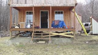 getlinkyoutube.com-Off Grid Cabin - opening up for the year - land clearing - S&W M&P 9mm - 4-3-2010