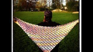getlinkyoutube.com-Crochet Flower Lattice Shawl