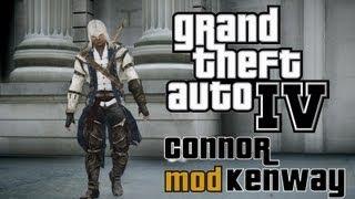getlinkyoutube.com-GTA: IV - Connor Kenway Mod - Assassin's Creed III [HD]