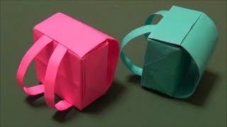 "getlinkyoutube.com-「ランドセル」立体折り紙""Backpack"" origami"
