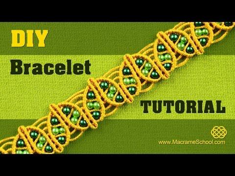 DIY Macramé Spring Leaf Bracelet Tutorial