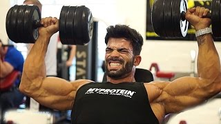 getlinkyoutube.com-Sergi Constance progress chest workout New...!!
