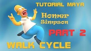 TUTORIAL Maya 2/3 Basic WALK Cycle Animation - PixelBoom