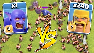 getlinkyoutube.com-240 BARBARIANS vs 1 BOWLER 😀INSANE BATTLE!!!🔸Clash of clans