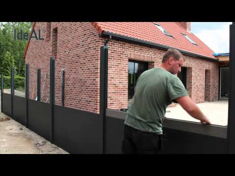 MONTAGE Palissade IDEAL Aluminium & Bois Composite fiberon