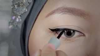 getlinkyoutube.com-Tutorial: Eyeliner Liquid Wardah