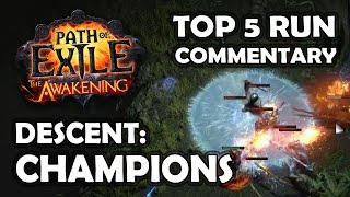 getlinkyoutube.com-Path of Exile: DESCENT CHAMPIONS Race Commentary - Top 5 Templar Run &  Top 20 Overall
