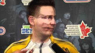 2012 Tim Hortons Brier Bronze Medal Media Scrum