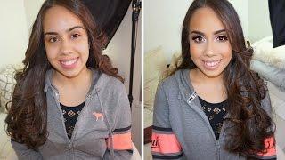 Client Makeup Tutorial | Classic Gold Glitter Look