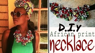 getlinkyoutube.com-How to-diy African print Ankara flower necklace detailed start to finish easy