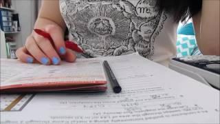 getlinkyoutube.com-ASMR - Studying Physics - Pencil and Pen Writing, Flipping Paper, No Talking, Binaural