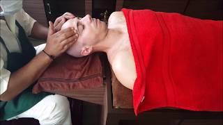 getlinkyoutube.com-Relaxing Ayurvedic Indian Head Massage - ASMR no talking video