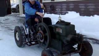 getlinkyoutube.com-Home made tractor with hit and miss engine. # 3