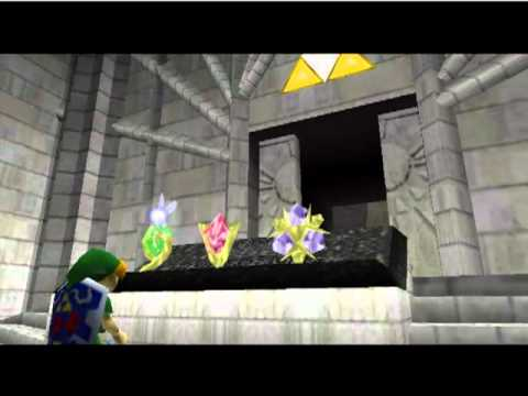 The Legend of Zelda: Ocarina of Time. Link pulling the Master Sword