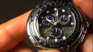getlinkyoutube.com-Citizen Navihawk 2000GT (Skyhawk) Review JN4000-51L