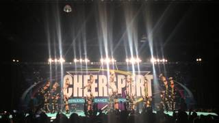 getlinkyoutube.com-Top Gun Large Coed Cheersport 2015 Day 1