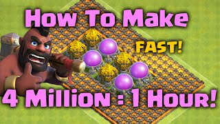 getlinkyoutube.com-How to Farm 4 Million Loot in 1 Hour!! Clash of Clans - Farming and Attack Strategy Guide