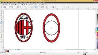 getlinkyoutube.com-Cara membuat logo AC Milan dengan CorelDRAW x6