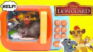 getlinkyoutube.com-Disney Jr.The Lion Guard Magical Microwave Toy Surprises, Kion, Ono, Bunga Dreamworks Trolls