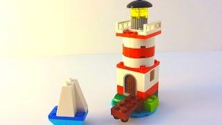 getlinkyoutube.com-How to Build a Lego Lighthouse & Sail - Lego Classic 10692 (2015)
