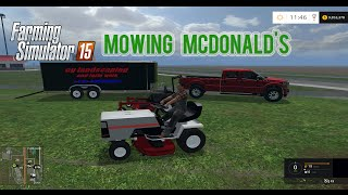 getlinkyoutube.com-Farming Simulator 2015 - Mowing McDonald's in Salem!