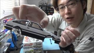getlinkyoutube.com-イニシャルD 86 RX-7 FC FD を作る!③ なべさんのプラモデル製作記