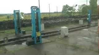 getlinkyoutube.com-Смена колёсных пар поезда на границе Украина Румыния