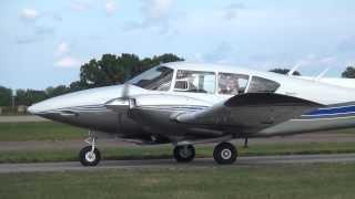 getlinkyoutube.com-Piper Apache G N99AJ departing KOSH on 8/4/13 at 1734