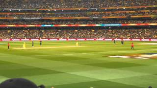 Aus v NZ ICC Cricket World Cup Final 2015 M Clarke's 4's and out width=