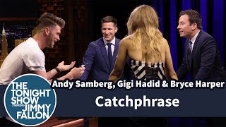 getlinkyoutube.com-Catchphrase with Andy Samberg, Gigi Hadid and Bryce Harper