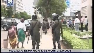 Polcia espanca desmobilizados de guerra