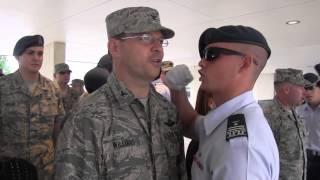 AFA cadets get to scream at generals